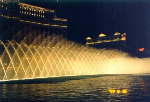 Fountain in front of Bellagio